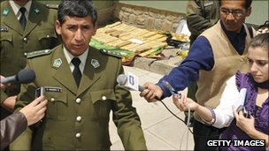 General Rene Sanabria, speaking in November 2008