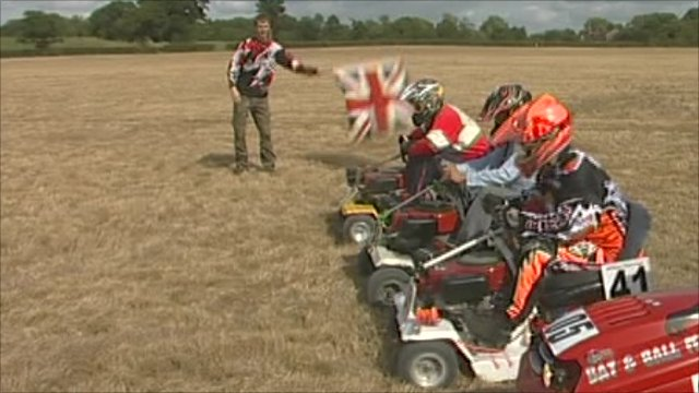 Lawnmower racers