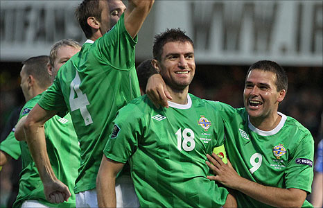 Aaron Hughes scored his only Northern Ireland against the Faroe Islands in August 2011