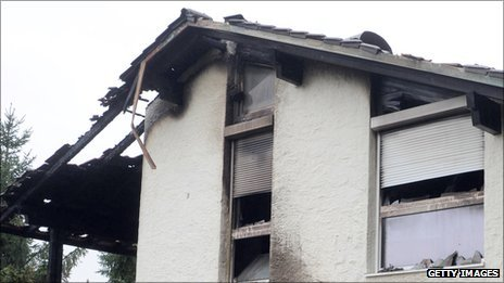 The home of Brazilian Breno who has been arrested over the blaze