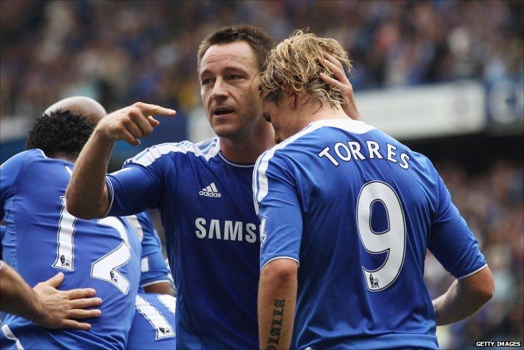 Fernanado Torres gives Chelsea 1-0 lead