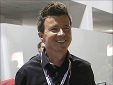 Rick Astley at the Singapore Grand Prix