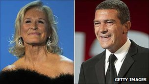 Glenn Close and Antonio Banderas