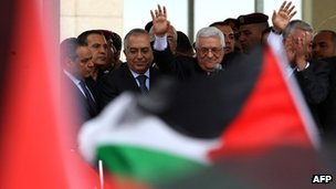Mahmoud Abbas in Ramallah