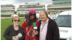 BBC Presenters Pauline McAdam, Phina Oruche and Andy Ball