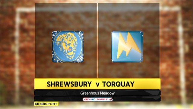 Shrewsbury 2-0 Torquay