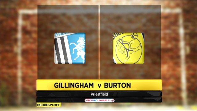 Gillingham 3-1 Burton Albion