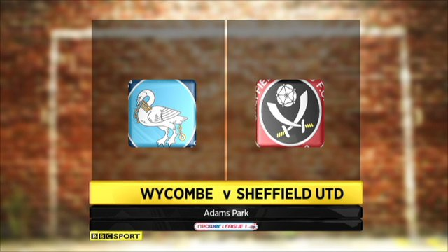 Wycombe 1-0 Sheffield Utd