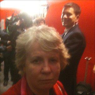 Sally Mulready and David Miliband