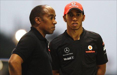 Anthony and Lewis Hamilton