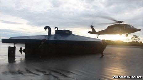 Seized submarine in Buenaventura