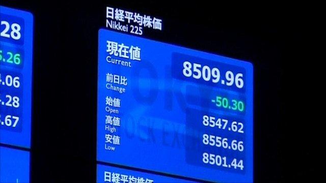 Stockboard at Tokyo Stock Exchange