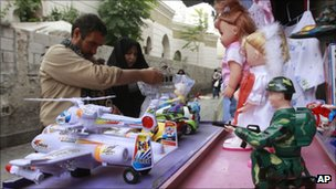 Iranian tourists shop for toys in the old city - 24 September