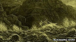 The wreck of the Clarendon in 1836 inspired engravings and poems