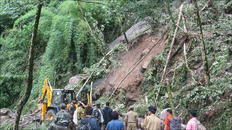Landslides have presented rescue workers in Sikkim with huge practical and logistical problems (BBC News)