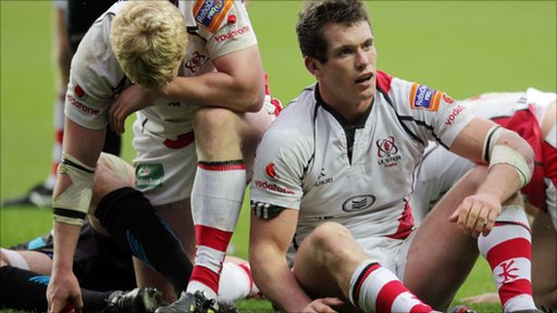 Ulster players after the 32-14 defeat to the Ospreys