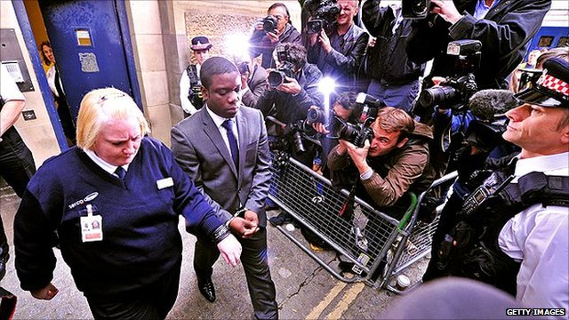 UBS equities trader Kweku Adoboli leaves City of London Magistrates court, in central London