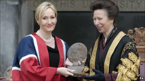 JK Rowling and the Princess Royal