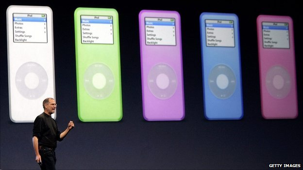 Steve Jobs launches a range of iPods