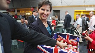 Mary Creagh at conference