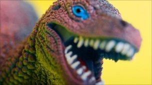 Dinosaur roaring