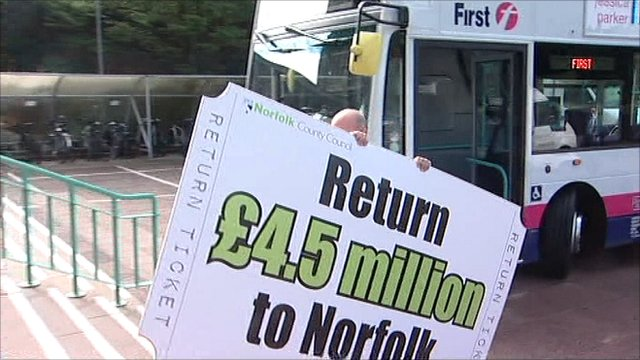 Norfolk bus fares campaign poster