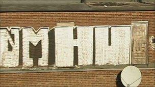 Graffiti on wall in Lincolnshire