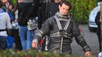 Matt Smith on location with Doctor Who in Cardiff