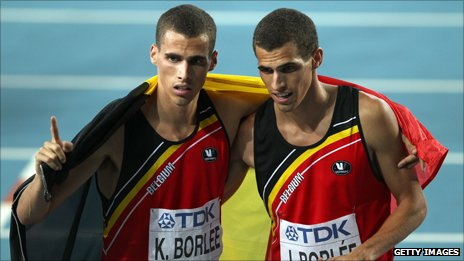 Kevin Borl�e (L) takes World championship bronze ahead of twin brother Jonathan