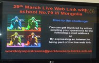 Park House advertised their twinning activity in classrooms and corridors