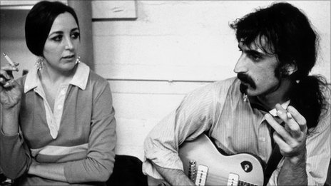 Pauline Butcher and Frank Zappa