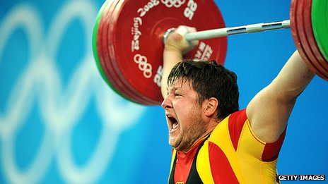Matthias Steiner of Germany competes at the 2008 Beijing Olympic Games