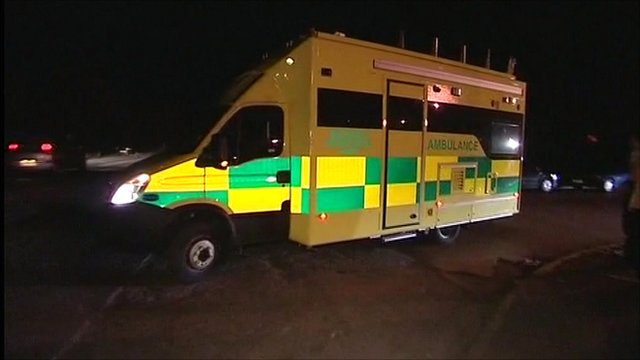 Ambulance at Kellingley Colliery