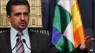 Interior Minister Sacha Llorenti