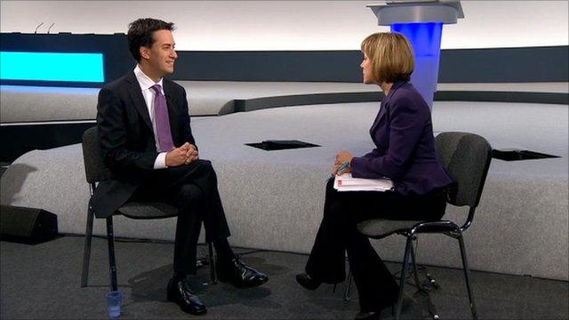 Ed Miliband talks to Sian Williams