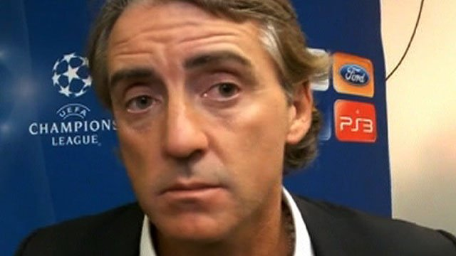 Man City's Roberto Mancini