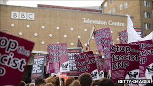 Protest at the BBC