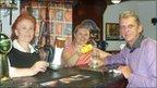 Ben Madigan care home staff members at the new bar