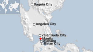 Philippines areas in this story on a map