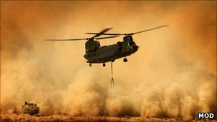 The Chinook helicopter is one of the RAF's most reliable workhorses