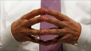 Ed Miliband's hands