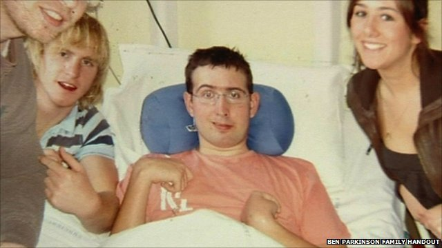 Ben Parkinson after his injury