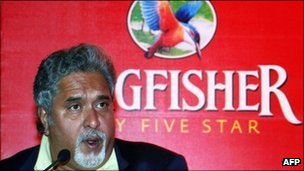 Kingfisher chairman and chief executive Vijay Mallya
