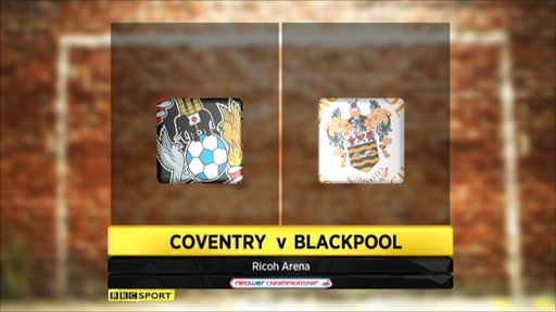Coventry 2-2 Blackpool