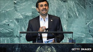 President Ahmadinejad speaks to UN General Assembly on 22 September