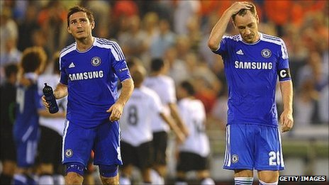 Chelsea's Frank Lampard and John Terry