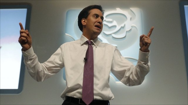 Ed Miliband at the party conference