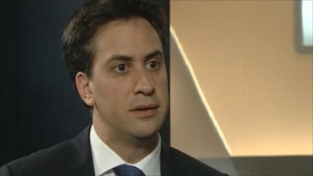 Ed Miliband being interviewed by BBC Scotland