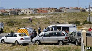 Scene of crime in Cape Town