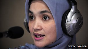 Radio journalist broadcasts